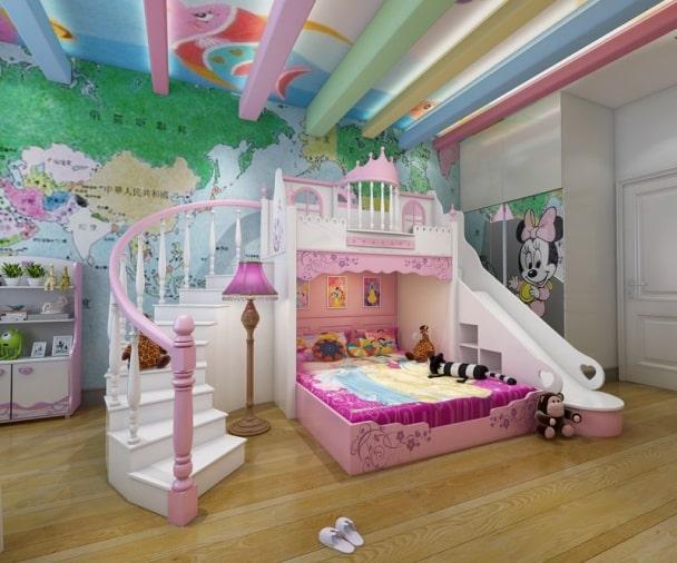Giường tầng công chúa dành cho bé gái