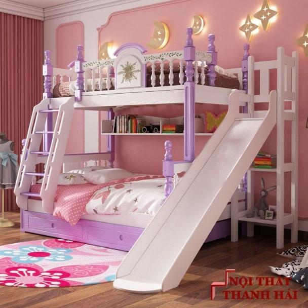 Giường tầng công chúa có cầu thang