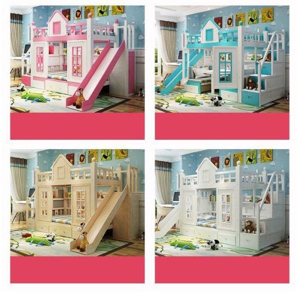 Giường tầng cho bé hình ngôi nhà