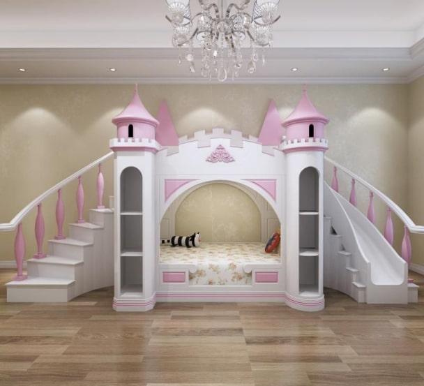 Giường tầng kiểu lâu đài công chúa