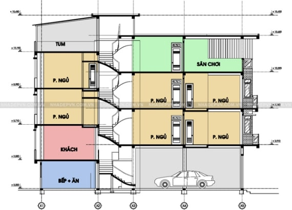 mẫu thiết kế nhà lệch tầng đẹp - 2