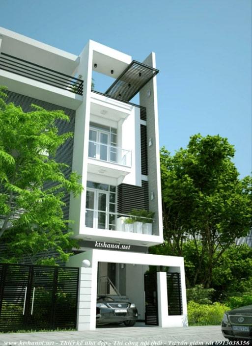 mẫu nhà ống, nhà phố đẹp - Thiết kế 1