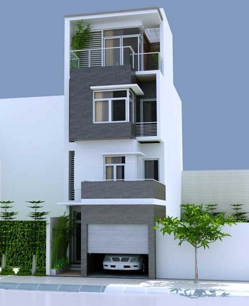 mẫu nhà ống, nhà phố đẹp - Thiết kế 4