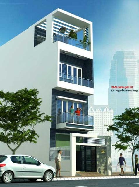 mẫu nhà ống, nhà phố đẹp - Thiết kế 5