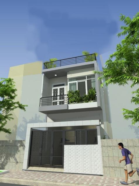 Thiết kế nhà phố 2 tầng đẹp chi phí xây dựng khoảng 500 triệu