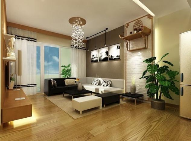 Phòng khách đẹp nhà cấp 4 mái thái