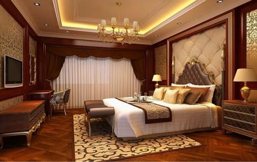Phòng ngủ căn biệt thự 2 tầng đẹp