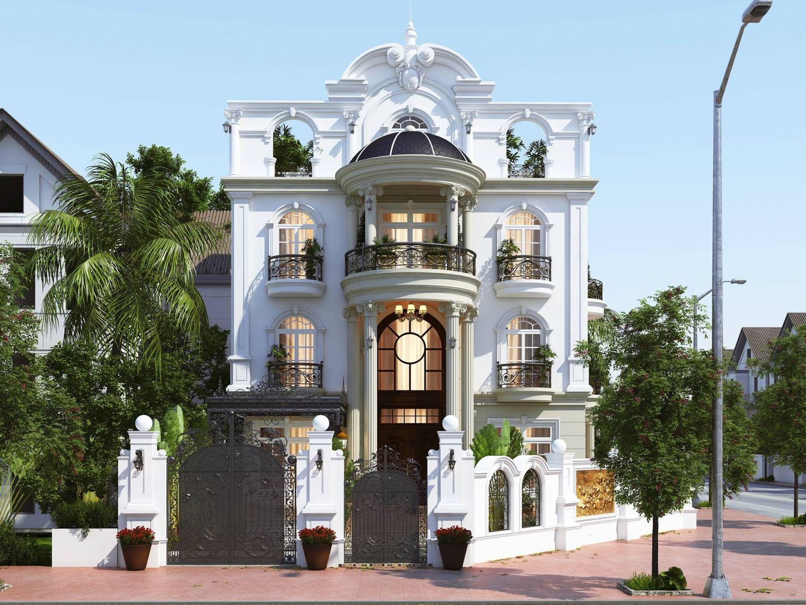 Biệt thự Tân cổ điển 3 tầng – Top 500 mẫu nhà biệt thự đẹp nhất VN