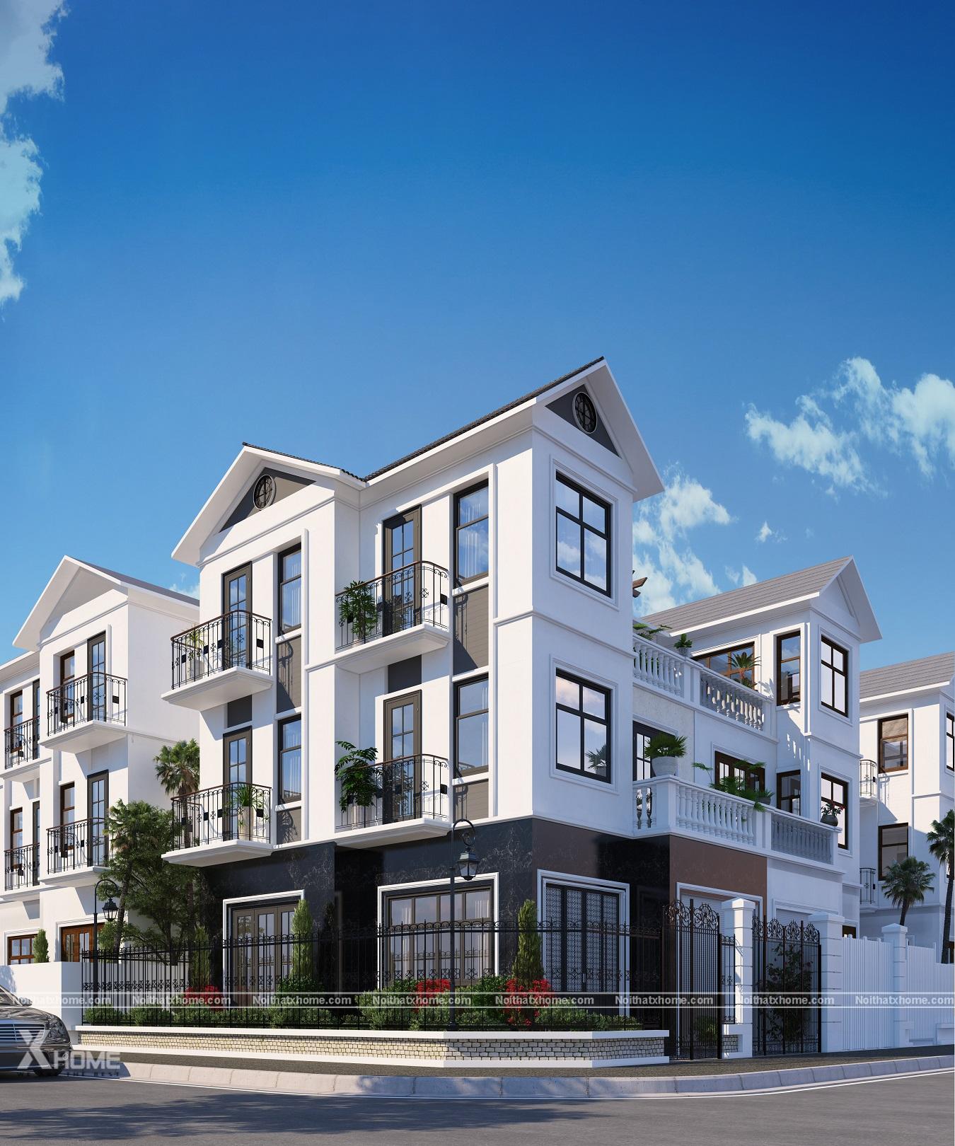 Biệt thự phố 3 tầng – Full bản vẽ thiết kế biệt thự 100m2 chỉ với 800 triệu