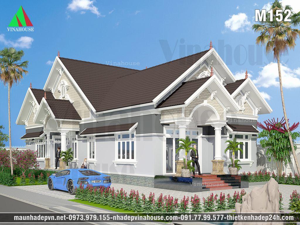 Biệt thự vườn 3 phòng ngủ – Mẫu biệt thự mái thái 9m×20m ở Đồng Nai