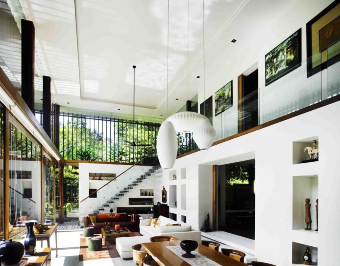 Nội thất biệt thự nhà vườn – Ngôi nhà tràn ngập ánh sáng dual level home design 1304x1200