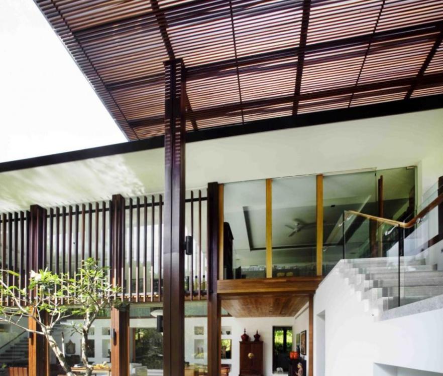 Nội thất biệt thự nhà vườn – Ngôi nhà tràn ngập ánh sáng exterior staircase 919x1200