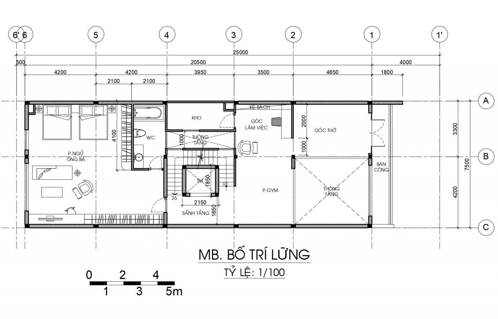 Nhà 1 trệt 1 lửng 1 lầu 1 sân thượng