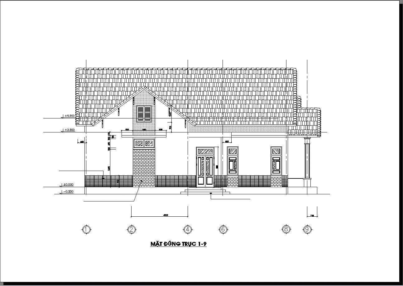 mẫu Nhà cấp 4 nông thôn 4 phòng ngủ 150m2