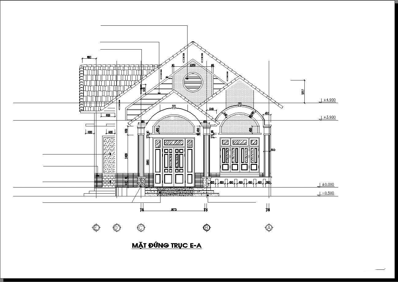 Nhà cấp 4 nông thôn 4 phòng ngủ 150m2 - Mẫu thiết kế mái thái phối màu đẹp lung linh