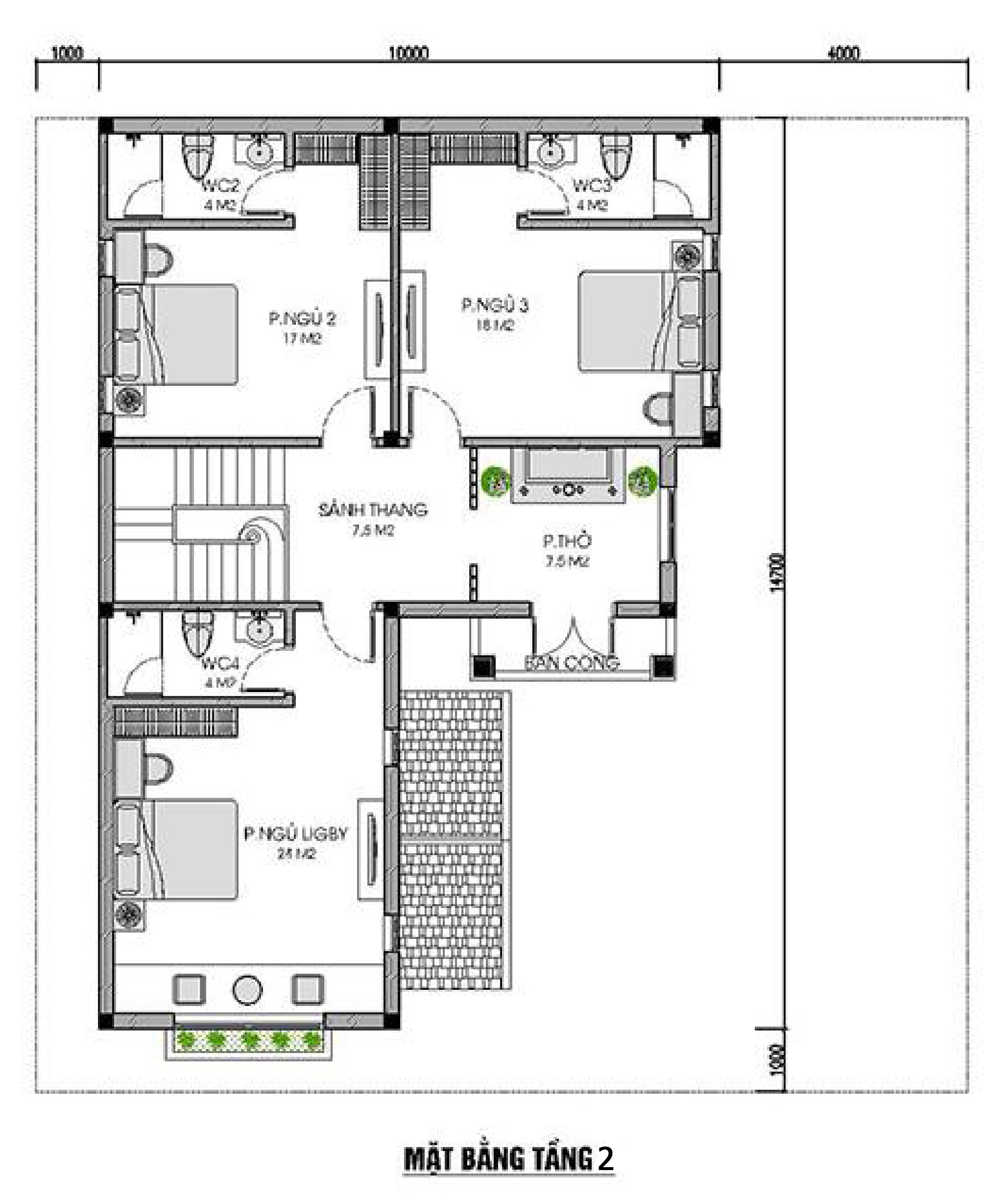 Mặt bằng mẫu biệt thự mái thái 2 tầng được ưa chuộng nhất tại Việt Nam  Biệt thự mái thái – Mẫu Thiết kế được ưa chuộng và phù hợp khí hậu VN mau biet thu 2 tang dep 2 2