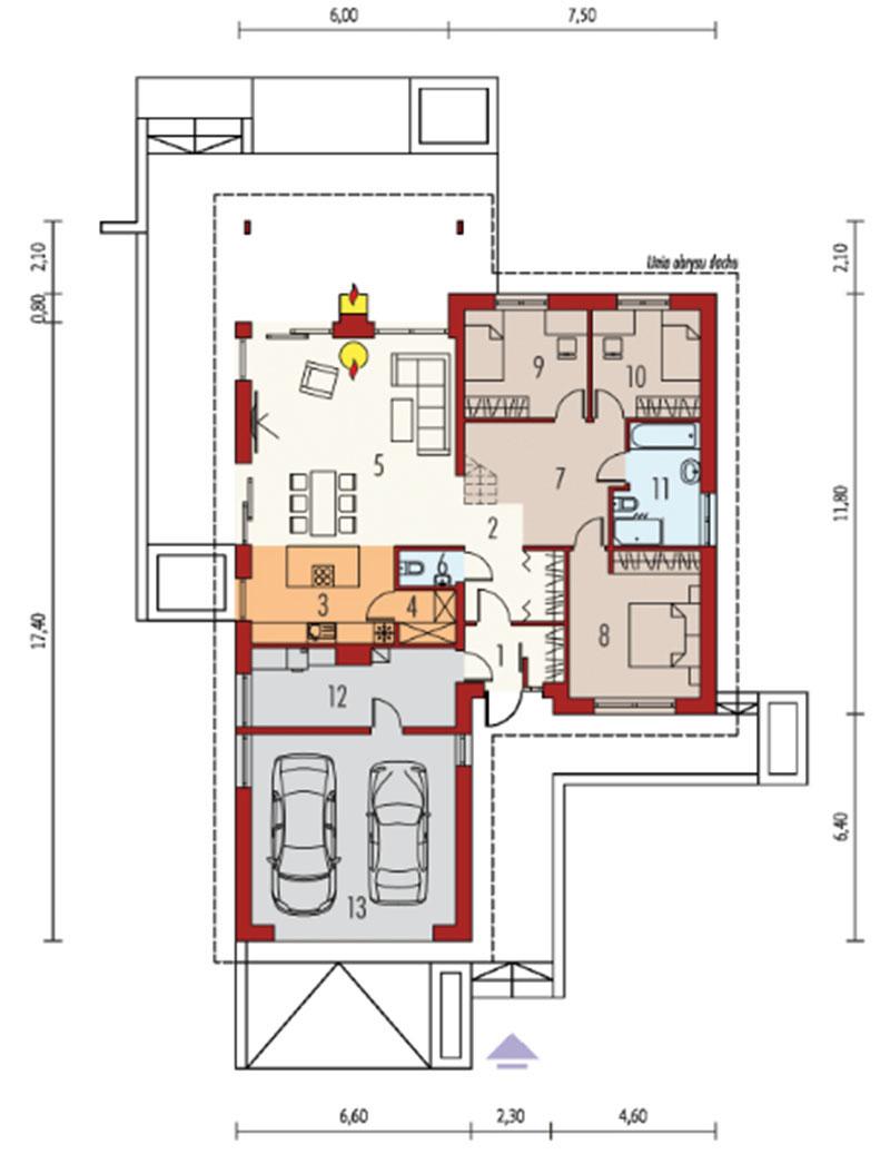 thiết kế biệt thự vườn kiểu pháp 3 phòng ngủ
