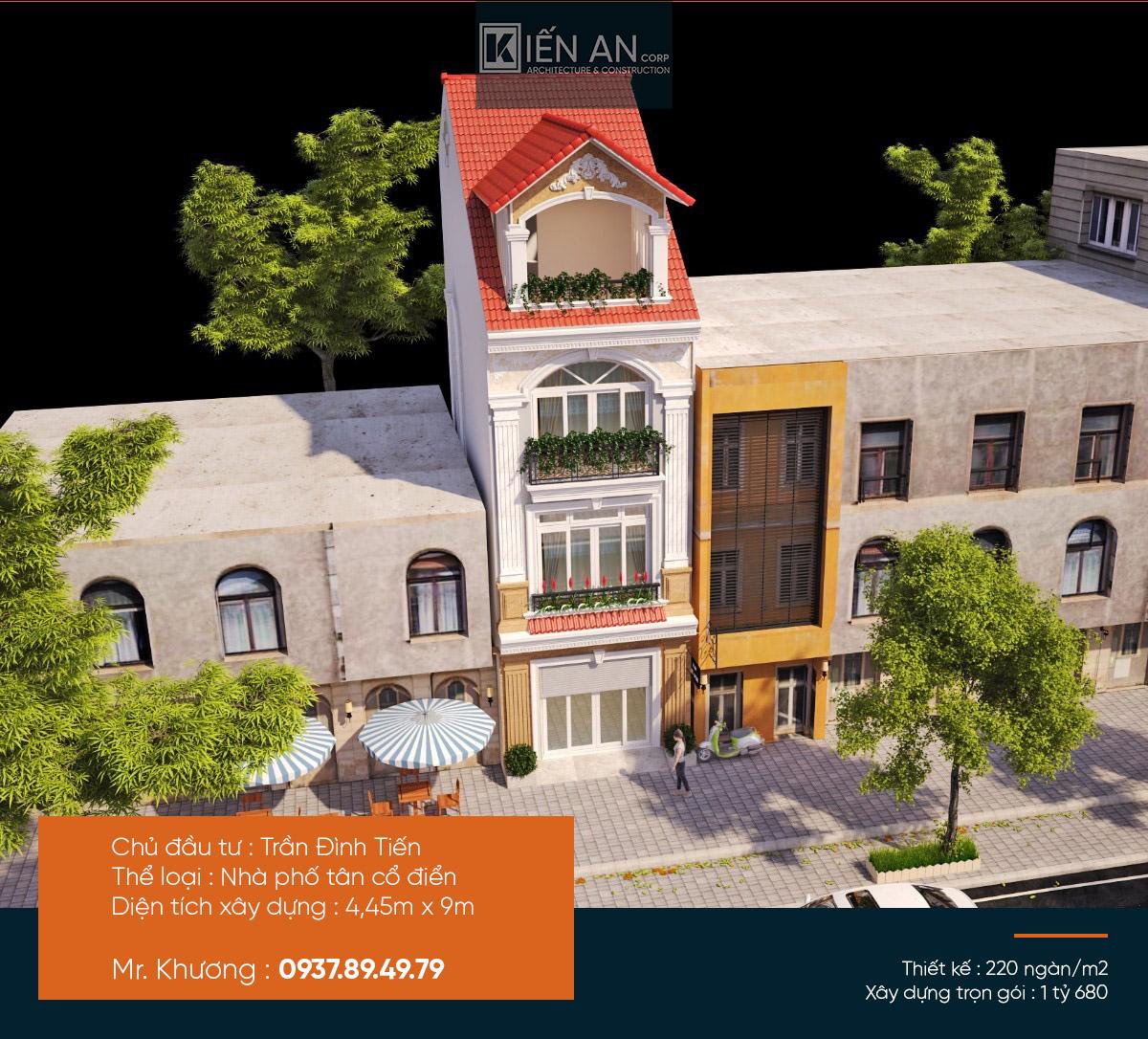 Đẹp mê mẩn với mẫu thiết kế Nhà phố hiện đại 9×4,5m 3 phòng ngủ 1,6 tỷ