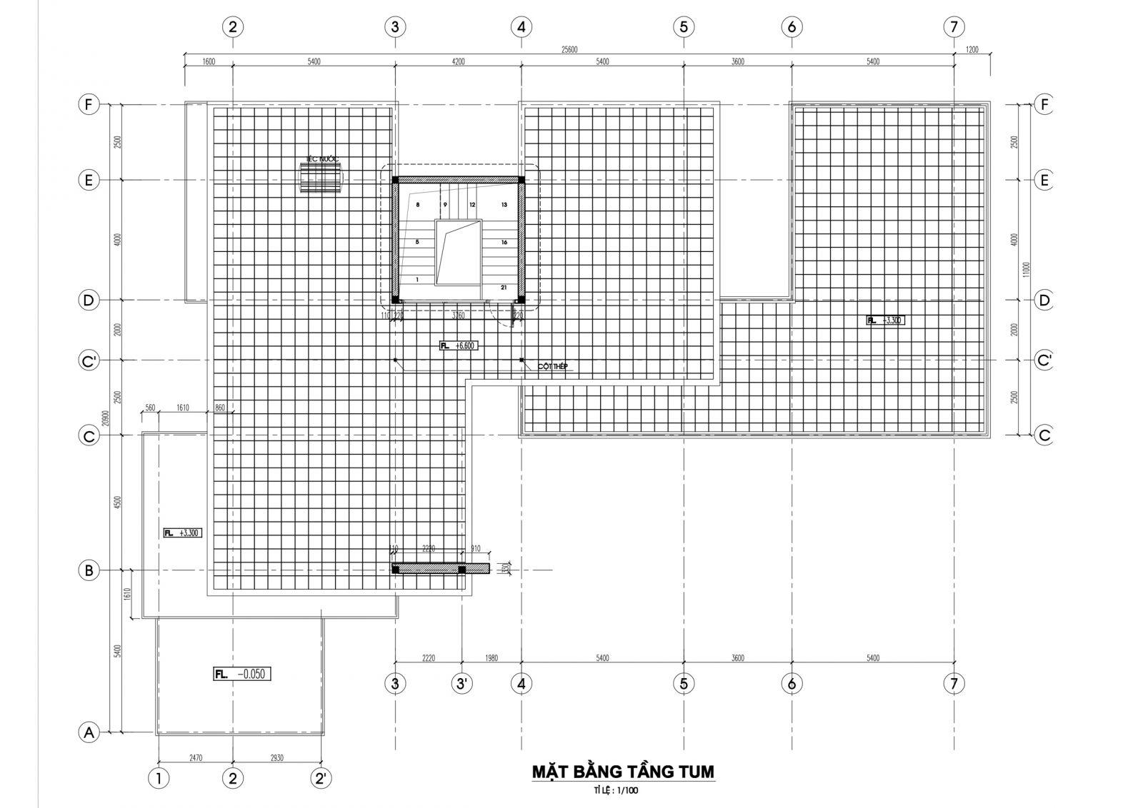 Biệt thự 2 tầng mái bằng – Biệt thự mái hiện đại thanh thoát mb tang tum biet thu dep