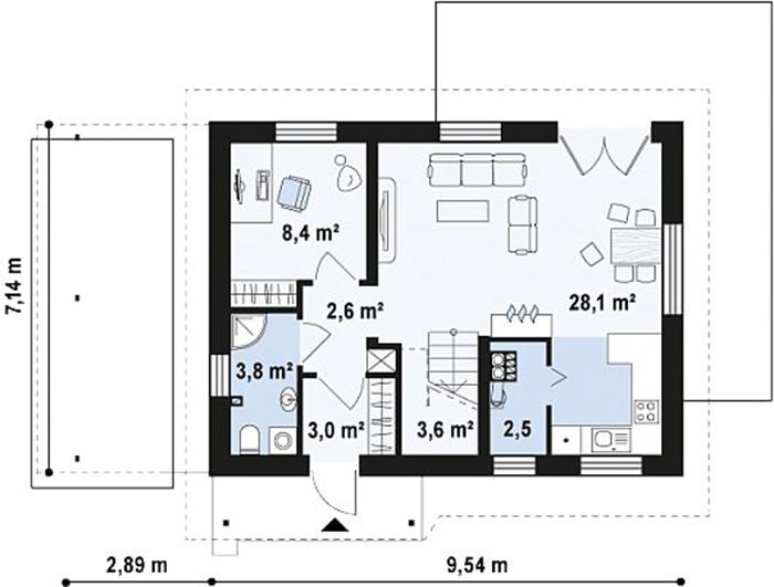 Nhà cấp 4 tầng lửng