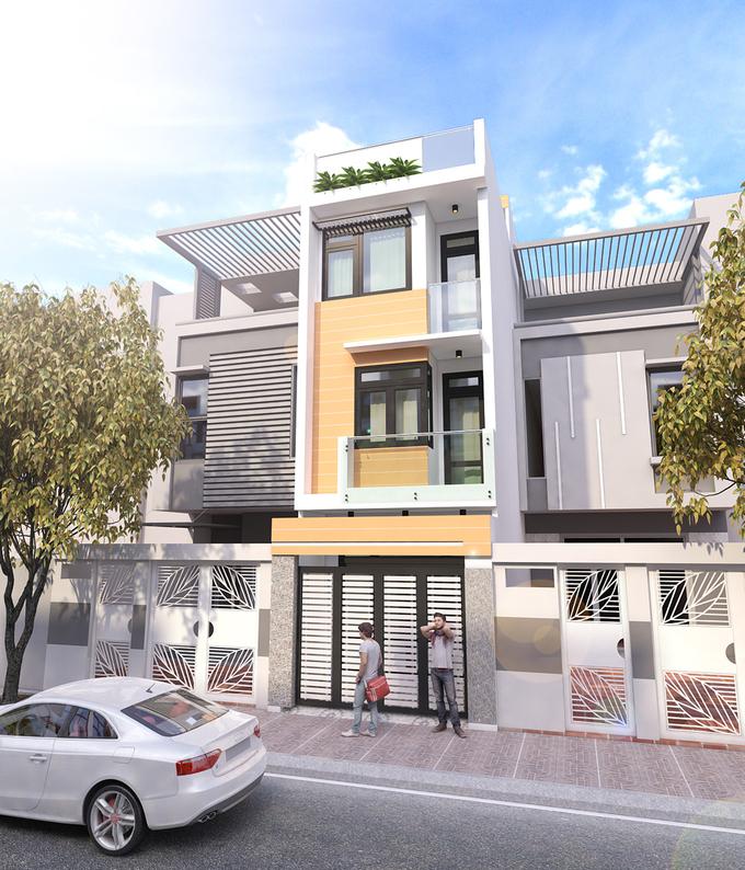 Nhà phố 4 tầng mặt tiền 4m – Lối thiết kế hiện đại đơn giản rẻ nhất