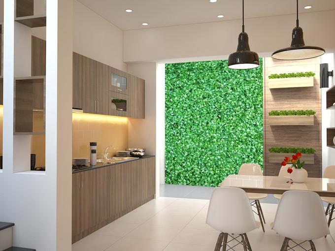 Bố trí nội thất bếp mẫu thiết kế nhà phố 4 tầng mặt tiền 4m