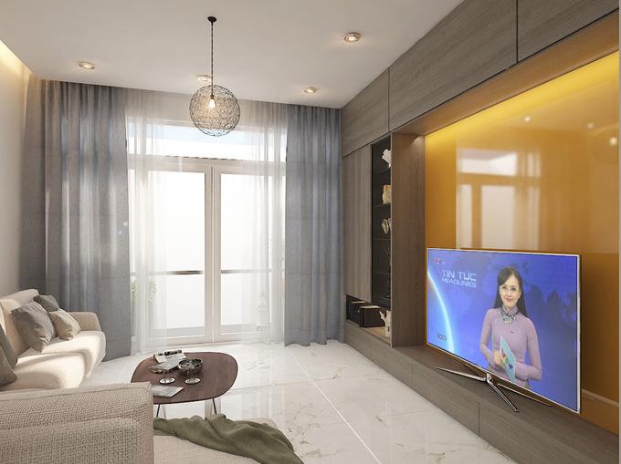 Bố trí nội thất sinh hoạt chung nhà phố 4 tầng mặt tiền 4m