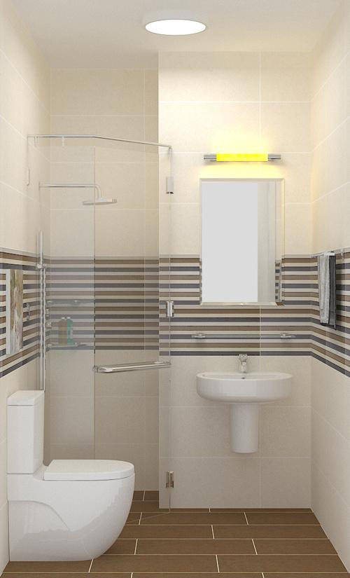 Bố trí nội thất wc nhà phố 4 tầng mặt tiền 4m