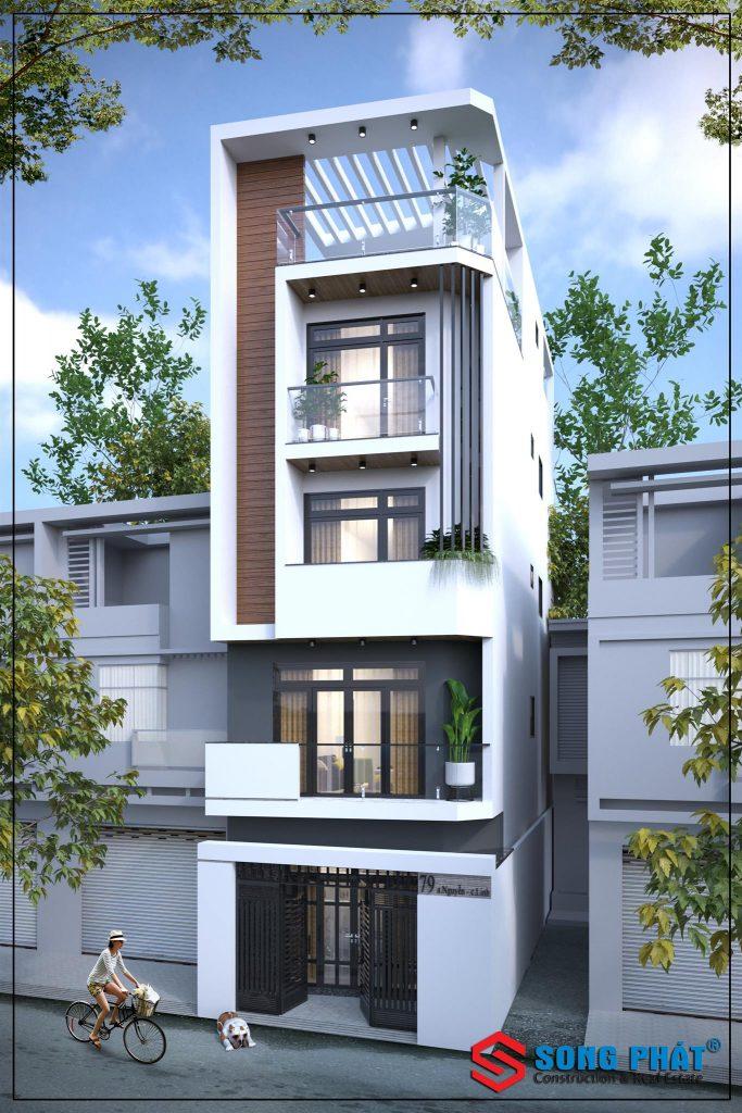 Tư vấn miễn phí theo yêu cầu – Thiết kế nhà phố 4 tầng đẹp hiện đại