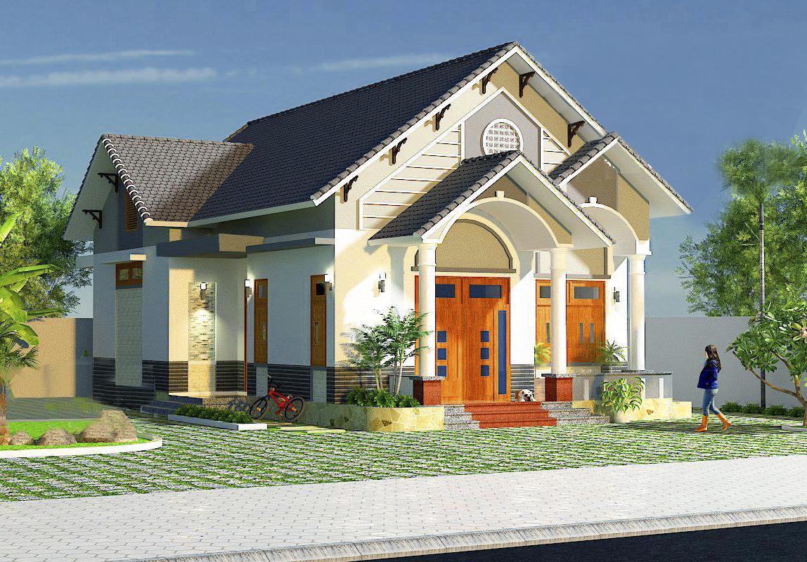 Nhà cấp 4 nông thôn 4 phòng ngủ 150m2 – Mẫu thiết kế mái thái tuyệt đẹp