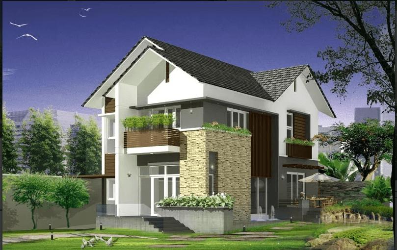 Tư vấn thiết kế nhà phố mái thái 2 tầng 8x15m – 500 triệu với 5 phòng ngủ