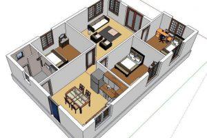 Miễn phí bản vẽ thiết kế nhà đẹp 1 tầng chỉ với 320 triệu đồng