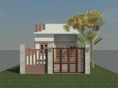 Bản vẽ thiết kế nhà cấp 4 diện tích 6x15m kinh phí 300tr