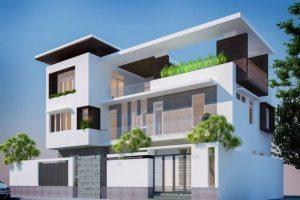Thiết kế biệt thự 3 tầng hiện đại hướng nam diện tích 250m2