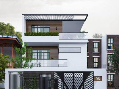 Tư vấn thiết kế Biệt thự 8x20m (160 m2) hiện đại 3 tầng