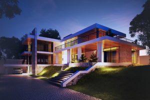 Biệt thự 2 tầng mái bằng – Biệt thự mái hiện đại thanh thoát
