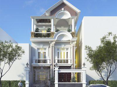 Biệt thự phố cổ điển 8m mặt tiền – Biệt thự phố giải pháp cho lô đất hẹp