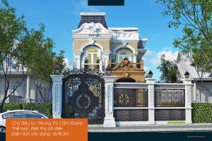 Biệt thự phố mặt tiền 8m – Biệt thự cổ điển đẹp