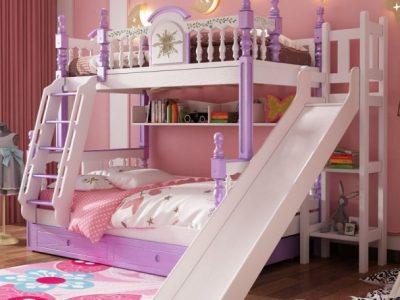 [10+] Mẫu giường tầng cho Bé Gái & Bé Trai có cầu trượt 2021