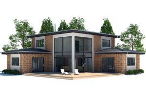 Thiết kế kiến trúc nhà 2 tầng hiện đại 13x13m phong cách không gian mở