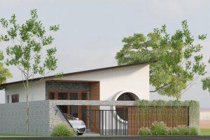 Nhà cấp 4 giá rẻ – Thiết kế chỉ với 400 triệu đồng cho cặp vợ chồng trẻ