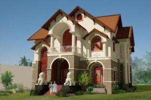 Mẫu biệt thự cổ điển 2 tầng đẹp mang phong cách Châu Âu