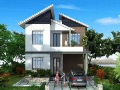 10 mẫu nhà 2 tầng mái lệch đẹp 2021 được xây dựng nhiều