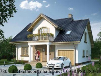 Giới thiệu bản mẫu nhà cấp 4 có gác lửng đẹp mái thái 11x13m