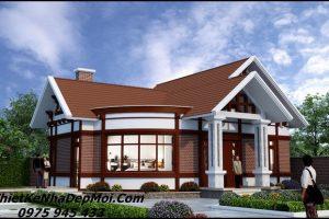 Mẫu nhà cấp 4 nông thôn 3 phòng ngủ mái thái đẹp sắc nước hương trời