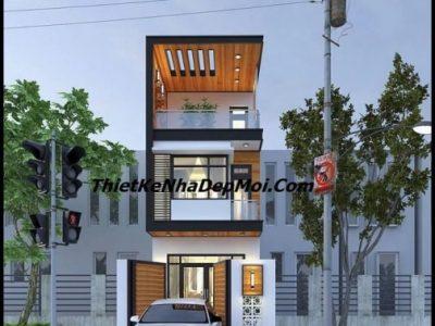 Mẫu nhà phố mặt tiền 4.5m 2 tầng 1 tum 60m2 hiện đại ông Đào