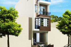BTS mẫu nhà phố 1 trệt 2 lầu sân thượng đẹp chi phí xây dựng RẺ