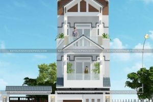 Kiến trúc hiện đại 2021 với mẫu nhà phố 3 tầng 4 phòng ngủ