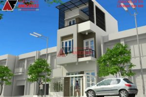 Mẫu nhà phố 3 tầng 40m2 ở Nghệ An mang phong cách Hiện Đại