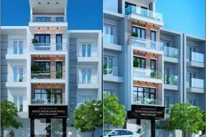 Thiết kế nhà vừa ở vừa buôn bán kinh doanh 5 tầng đẹp 2021
